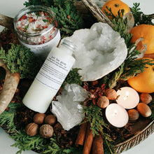 Load image into Gallery viewer, Just the Goods Winter Solstice / Yule bath salts and lotion