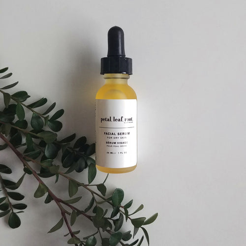 petal, leaf, root. by Just the Goods facial serum for dry skin