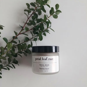 petal, leaf, root. by Just the Goods face mask for dry skin
