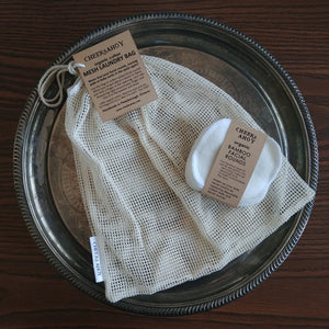 Cheeks Ahoy Organic Cotton Mesh Bag (Facial Rounds sold separately)