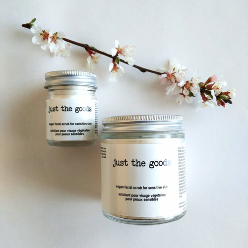 Just the Goods vegan facial scrub for sensitive skin