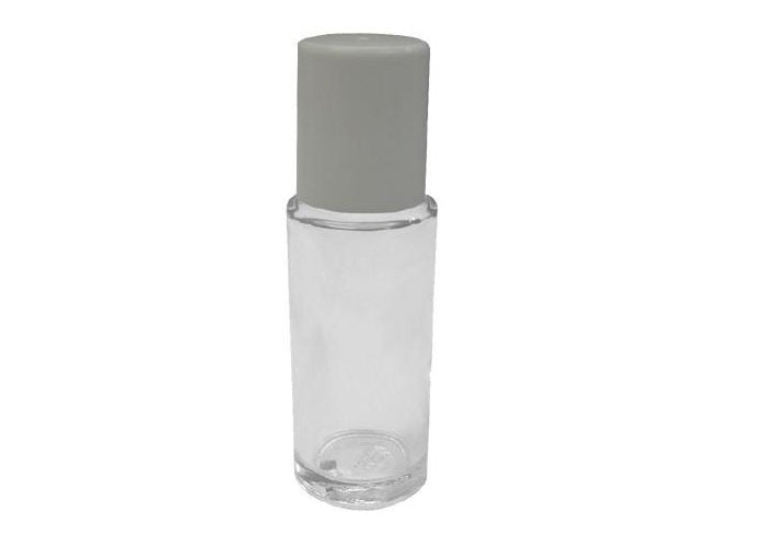 50 ml / 1.6 oz glass roll on bottle with cap - just the goods handmade vegan crueltyfree nontoxic skincare