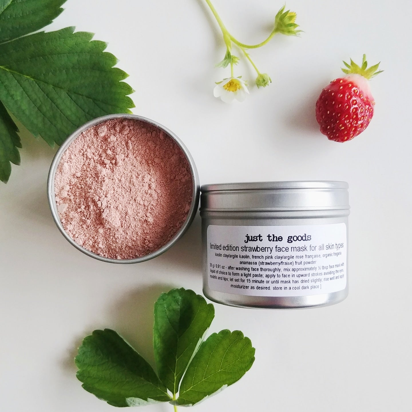 Limited Edition Vegan Strawberry Face Mask For Most Skin Types Justthegoods