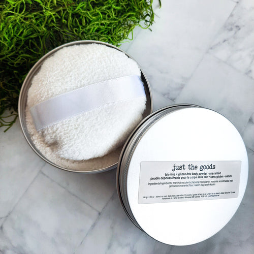 Just the Goods vegan unscented talc-free + gluten-free body powder