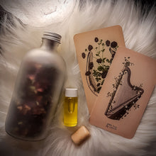 Load image into Gallery viewer, Just the Goods limited edition midnight magic bath salts, perfume oil, and moonstone