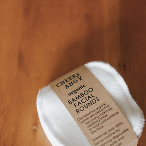 Cheeks Ahoy Organic Bamboo + Cotton Facial Rounds