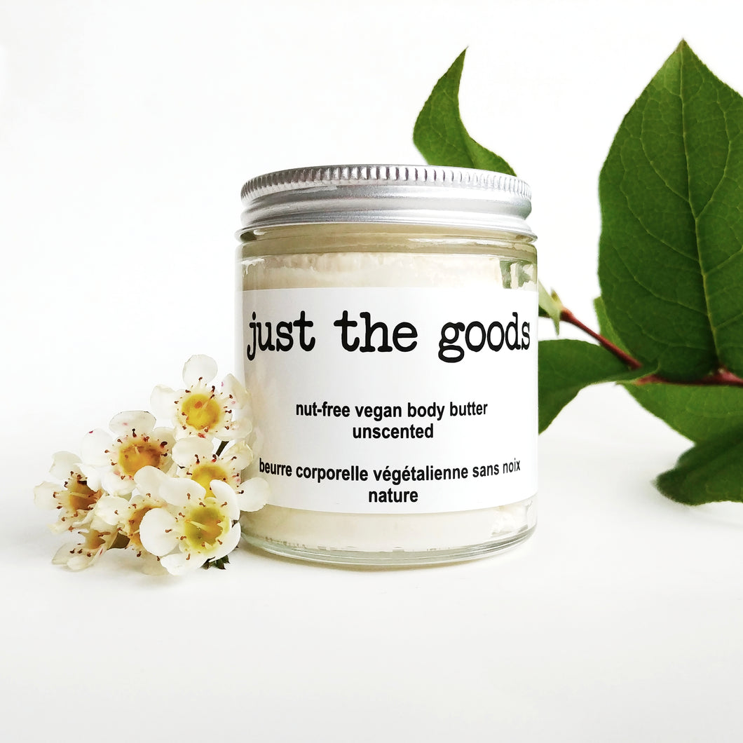 Just the Goods unscented nut-free vegan body butter
