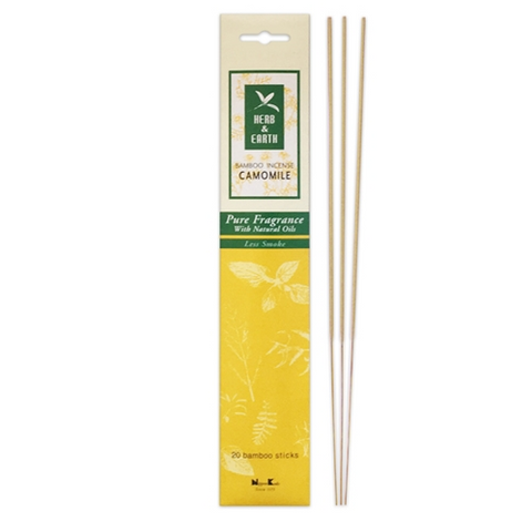 Herb & Earth Bamboo Incense - Chamomile - just the goods handmade vegan crueltyfree nontoxic skincare