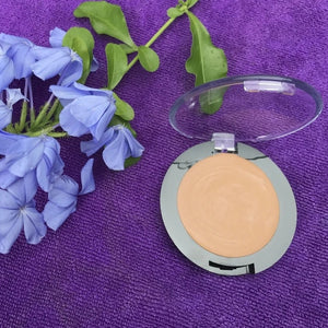 vegan eyeshadow primer by The All Natural Face in dark buff