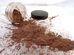 vegan eyeshadow by The All Natural Face in metallic antique copper (shimmer)