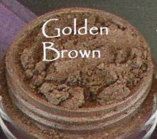 vegan eyeshadow by The All Natural Face in golden brown (shimmer)
