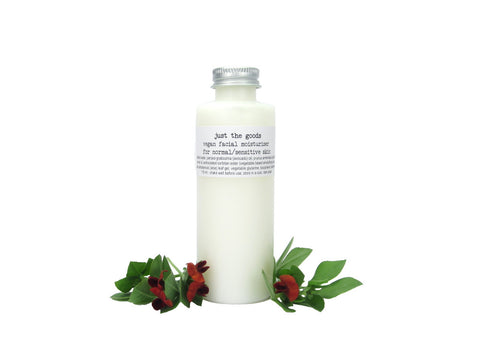 Just the Goods vegan facial moisturizer for normal/sensitive skin