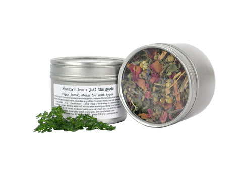 Urban Earth Teas + just the goods vegan facial steam for all skin types - just the goods handmade vegan crueltyfree nontoxic skincare