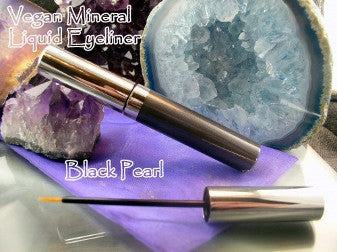 vegan gel eyeliner by The All Natural Face in black pearl - just the goods handmade vegan crueltyfree nontoxic skincare