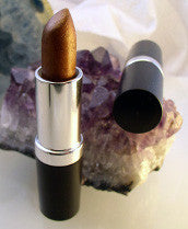 vegan lipstick by The All Natural Face in kiss me honey (shimmer) - just the goods handmade vegan crueltyfree nontoxic skincare