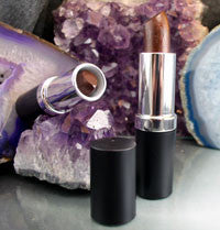 vegan lipstick by The All Natural Face in whipped chocolate (shimmer) - just the goods handmade vegan crueltyfree nontoxic skincare