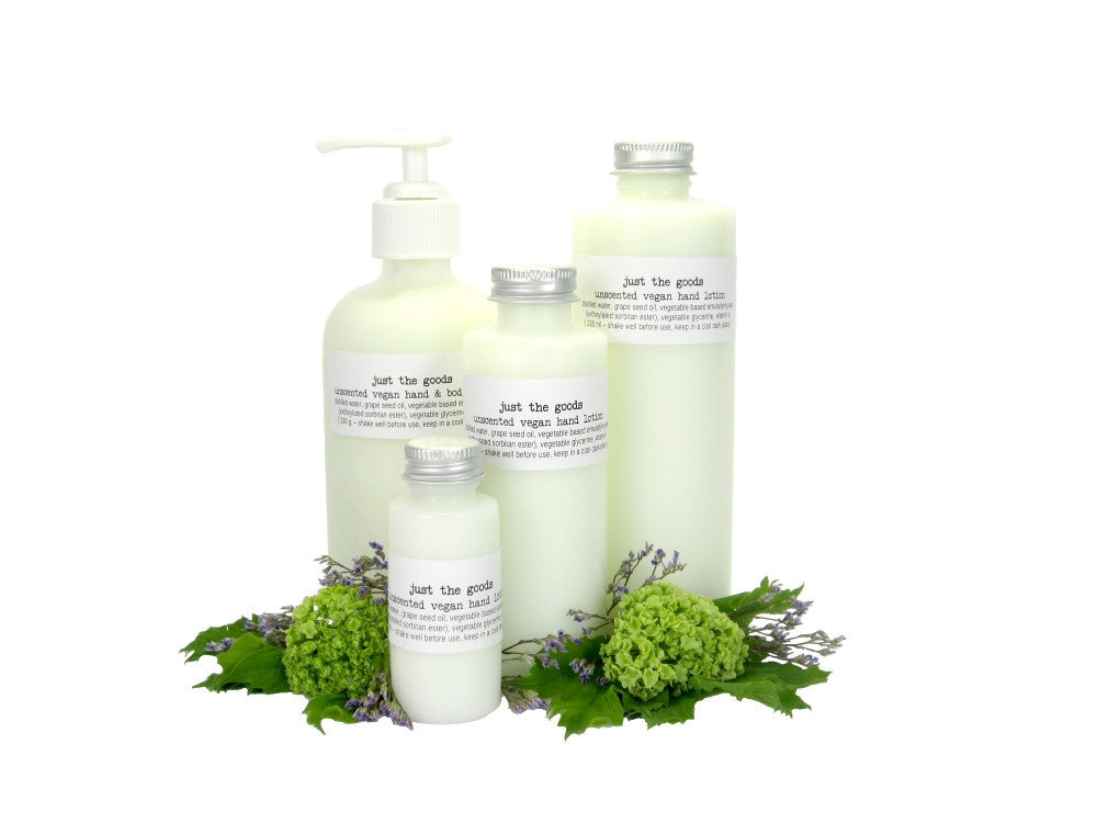 vegan unscented hand and body lotion