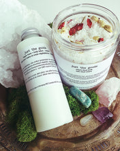 Load image into Gallery viewer, Just the Goods Spring Equinox / Ostara bath soak and lotion set - just the goods handmade vegan crueltyfree nontoxic skincare