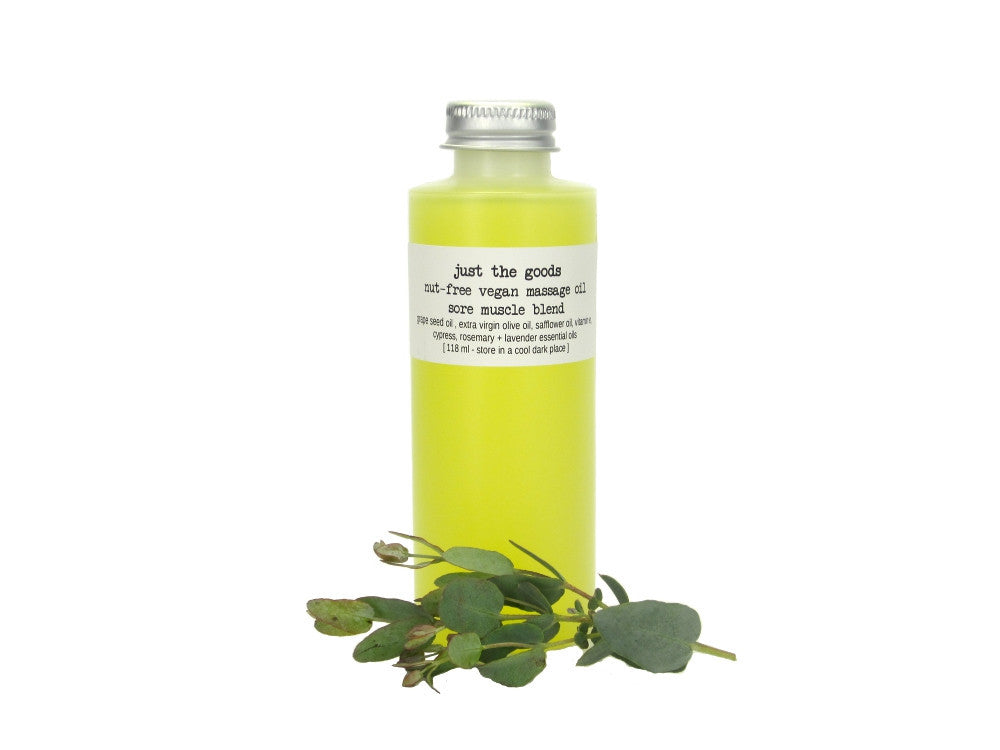 Just the Goods vegan unscented nut-free massage oil - just the goods handmade vegan crueltyfree nontoxic skincare