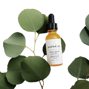 petal, leaf, root. by Just the Goods facial serum for normal/sensitive skin