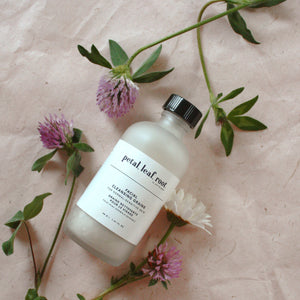 petal, leaf, root. by Just the Goods facial cleansing grains for normal/sensitive skin
