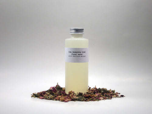 vegan rose floral water - just the goods handmade vegan crueltyfree nontoxic skincare