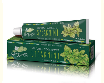 The Green Beaver Company Spearmint Toothpaste - just the goods handmade vegan crueltyfree nontoxic skincare