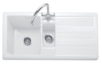 Small Ceramic Kitchen Sink With Drainer : ... - Colorado 150 -White Ceramic Inset Sink With Drainer atappliances