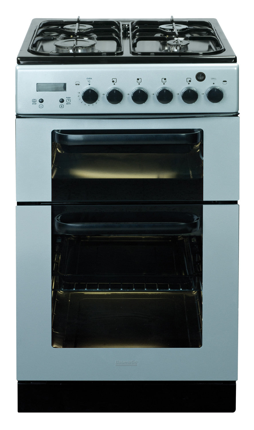 Baumatic bcg520sl dual cavity silver 50cm wide gas for 50cm deep kitchen units
