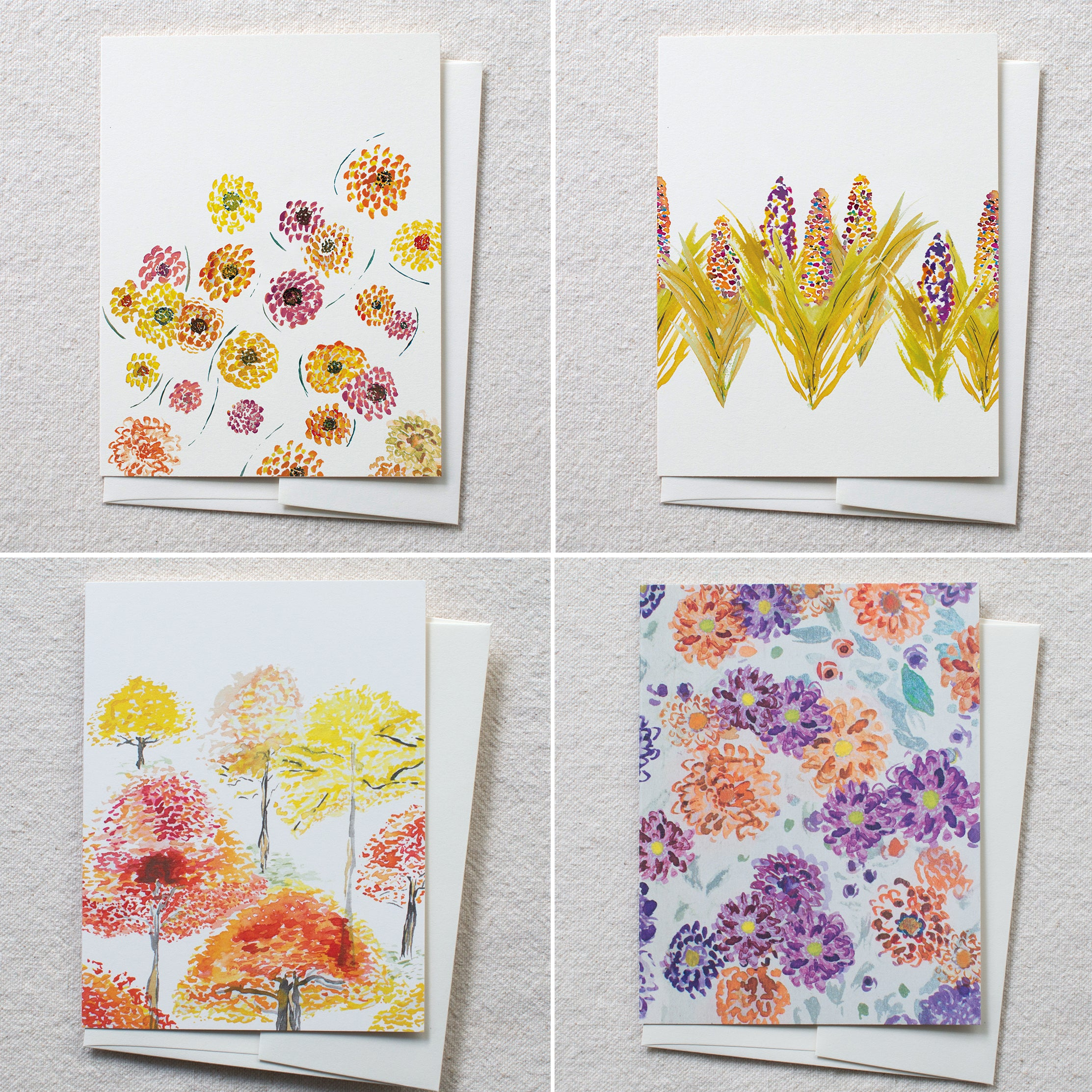 Autumn Garden Cards, set of 8