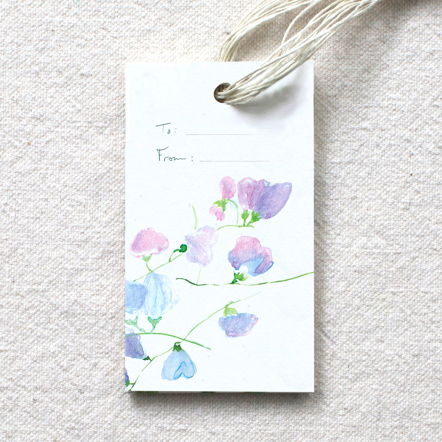 Sweet Pea Vine Gift Tags, set of 10