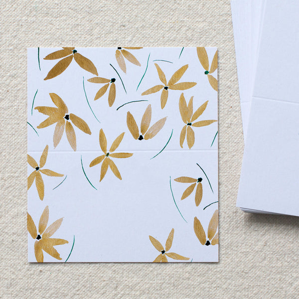 Gold Floral Gift Tags, set of 24