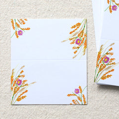 Harvest Bouquet Place Cards, set of 24
