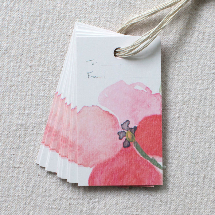 Single Bloom Gift Tags, Set of 10