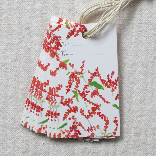 winterberry gift tags, set of 10