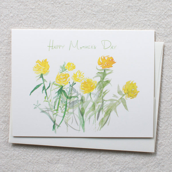 yellow oregon roses, happy mother's day