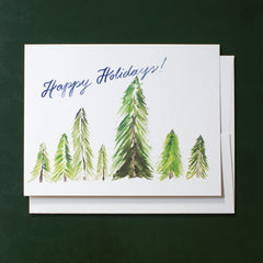 Evergreen Trees, Happy Holidays