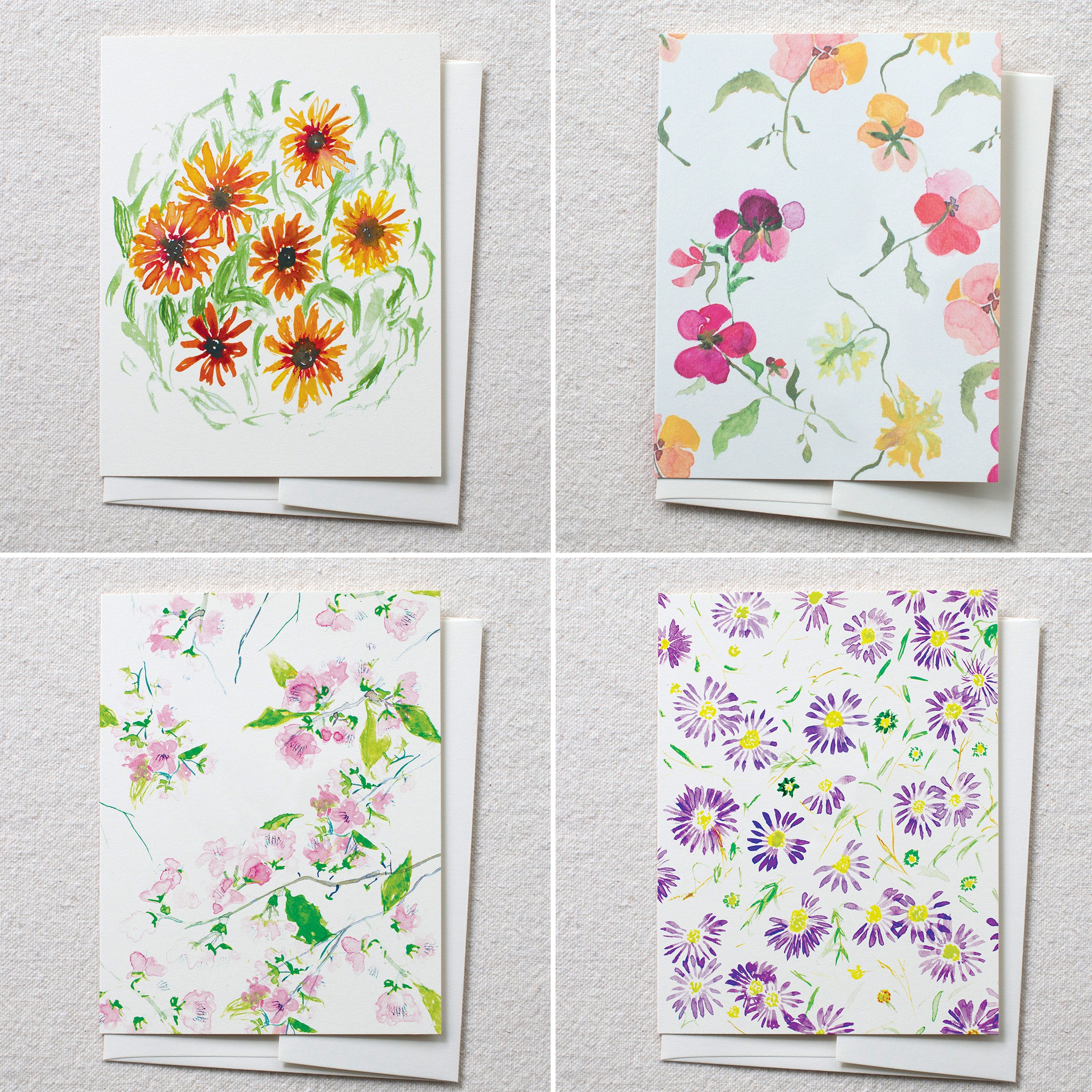 Pretty Blooms, set of 8
