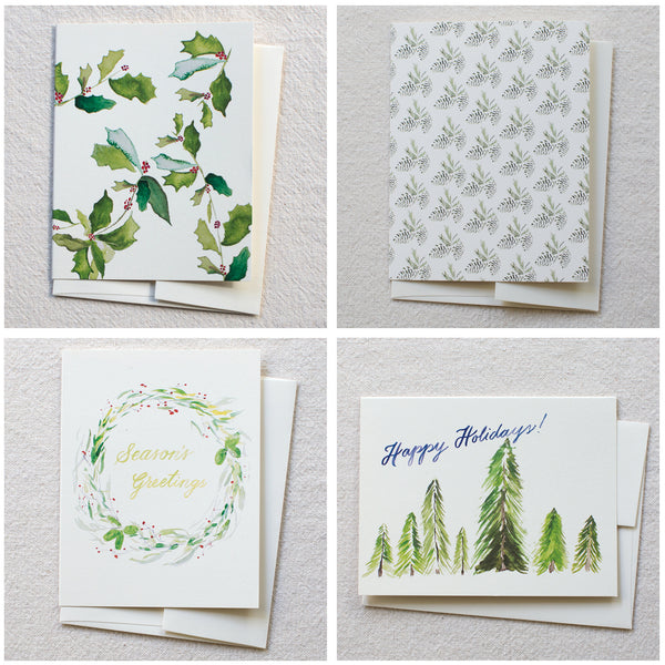 Mixed Holiday Cards, set of 8