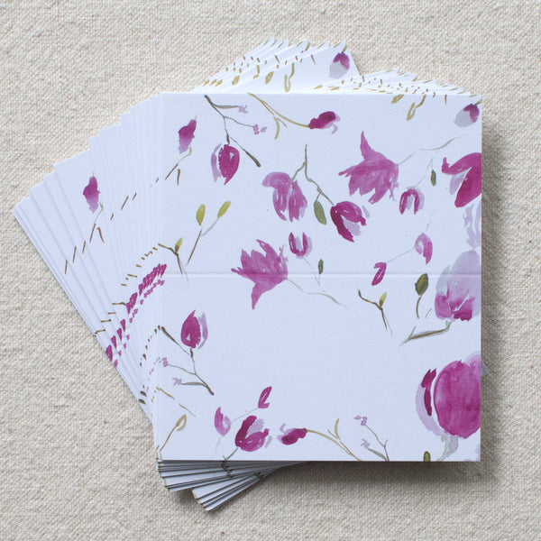Magnolia Branches place cards, set of 24