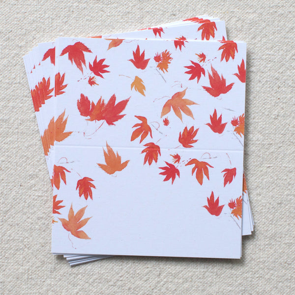 Autumn Maple Leaves Place Cards, set of 24