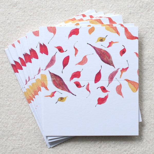 Falling Leaves Place Cards, Set of 24