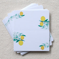 Citrus Branches Places Cards, Set of 24