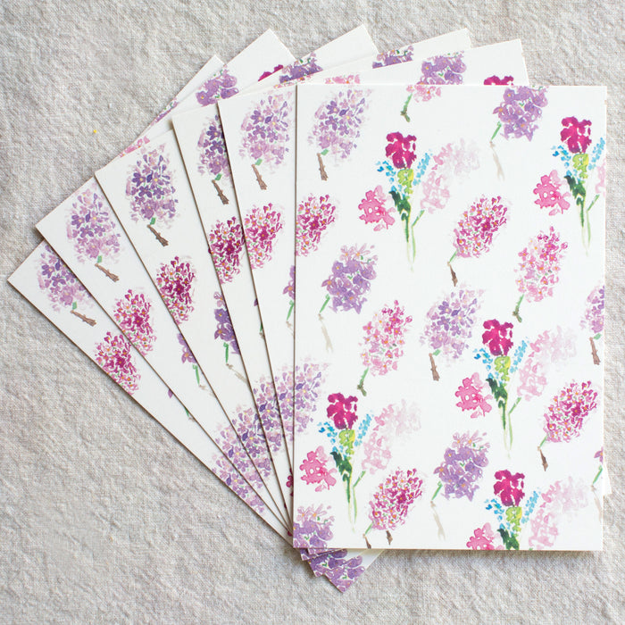 Lilac Postcards, Set of 6