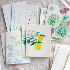 garden greenery cards, set of 8