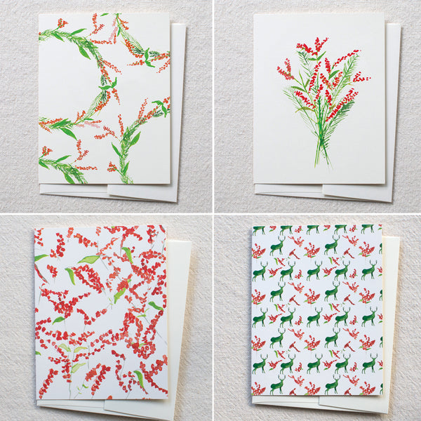 Winterberry Mix Cards, set of 8