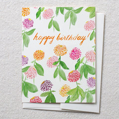 Zinnia Garden, Happy Birthday