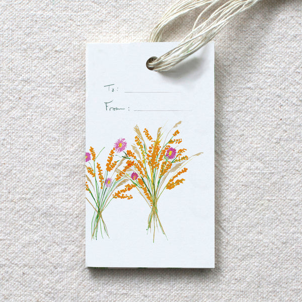 Harvest Bouquet Gift Tags, set of 10