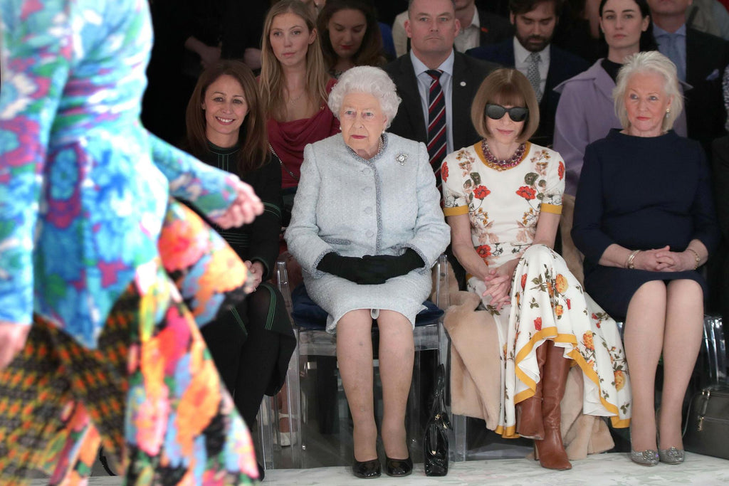 The Queen attending this LFW Runway Show is Awesome!