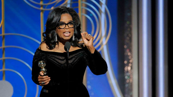 Oprah as she lights up the Golden Globes with a rousing speech